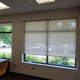 Sheer blinds in the library