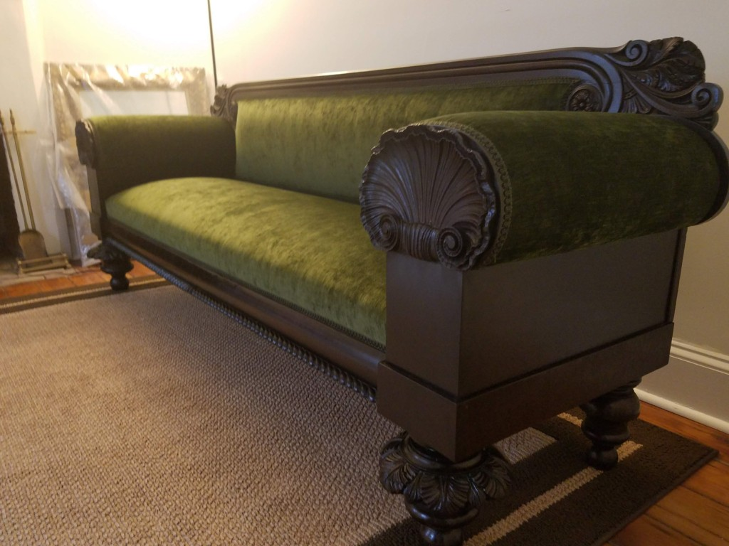 Green Antique Bench
