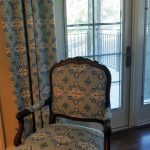 matching chair and drapes by Rosen Interiors
