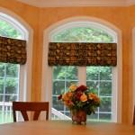 custom roman shades by Rosen Interiors