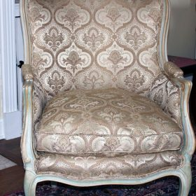 after reupholstering a bergere chair