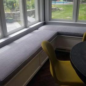 modern custom bench