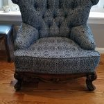 Custom upholstered antique chair