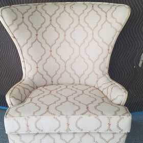 After Reupholstering a Fan Chair