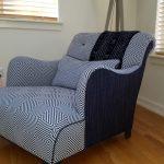 custom geometric patterned chair