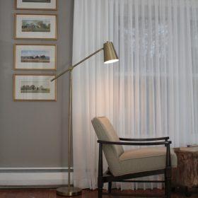 sheer blinds in a bedroom
